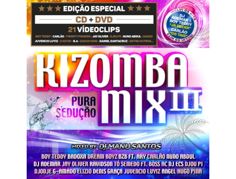 CD/DVD Kizomba Mix 3 - Mixed By Manu Santos — Kizomba