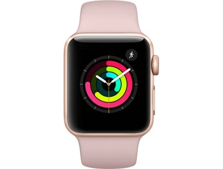 APPLE Watch Series 3 38mm Gold Aluminium Case Pink Band — iOS / 38 mm / Bluetooth 4.2 e Wi-fi