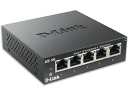 Switch D-LINK DES-105 — 200 Mbps | 5 Portas