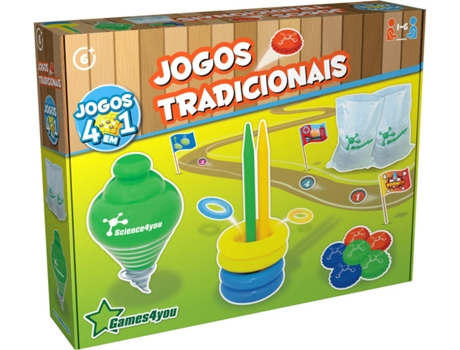 Jogos SCIENCE4YOU Tradicionais 4 Em 1 — Science4You