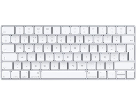 Teclado APPLE Magic em Branco — Bluetooth | Layout Português