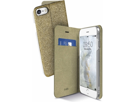 Capa SBS Book Sparky iPhone 6, 6s, 7, 8 Dourado — Compatibilidade: iPhone 6, 6s, 7, 8