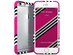Capa I-PAINT Ghost Iph6/6S Pink Stripes — Capa / iPhone 6/6S