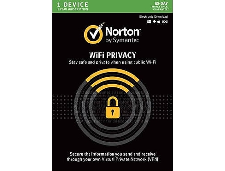 Software NORTON Wifi Privacy 1 Device — 1 Dispositivo | PC, Mac, Smartphone ou Tablet