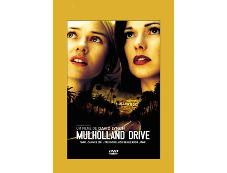 DVD Mulholland Drive — De: David Lynch / Com: Naomi Watts, Laura Harring, Justin Theroux