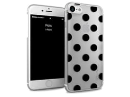 Capa iPhone 6, 6s, 7, 8 I-PAINT Glamour Pois Preto — Compatibilidade: iPhone 6, 6s, 7 ,8