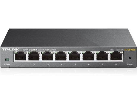 TP-LINK TL-SG108E Não-gerido L2 Gigabit Ethernet (10-100-1000) Preto