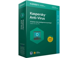 Software KASPERSKY Anti-Vírus 2018 1 User — 1 Dispositivo