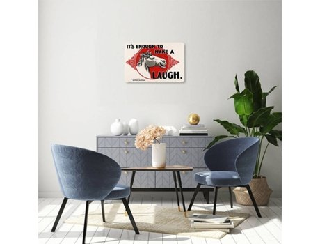 Placa Decorativa LEGENDARTE Publicidade It's Enough to Make a Horse Laugh (40x60 cm)