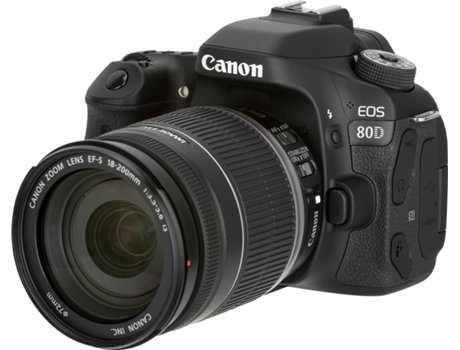 Kit Máquina Fotográfica Reflex CANON EOS 80D + EF-S18-200 IS (24.2 MP -  Sensor  APS-C - ISO  100 a 16000) 09fccfb56e44
