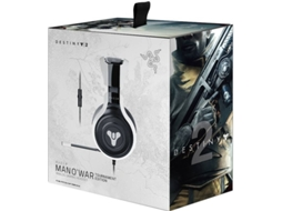 Microauscultadores Gaming RAZER  Man O'War Tournament Destiny 2 Edition — Branco e Preto