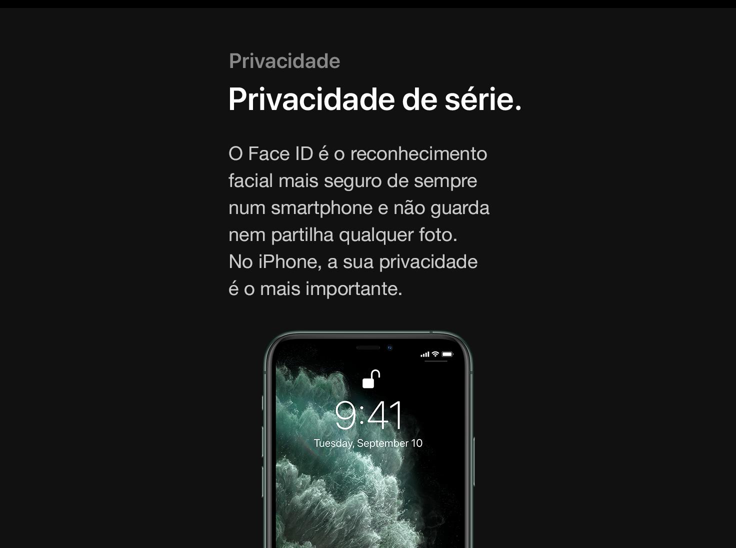 Privacidade de série.