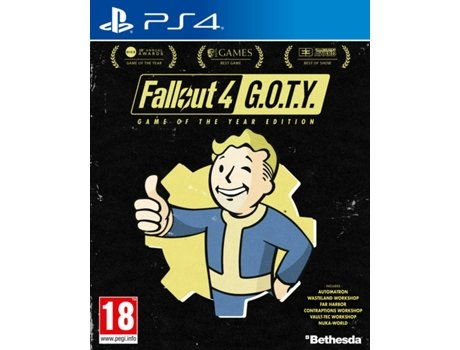 Jogo PS4 Fallout 4: GOTY (Game of the Year Edition) — FPS | Idade mínima recomendada: 18