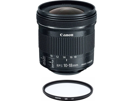 Objetiva CANON EF-S 10-18mm F4.5-5.6 IS STM + Hoya UX UV 67mm