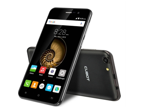 Smartphone CUBOT Note S 16GB Preto — Android 5.1 / 5.5'' / Quad-core 1.3 GHz / 2GB RAM / Dual SIM