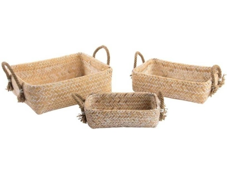 Conjunto 3 Cestas ITEM Bambu Natural — Tropical