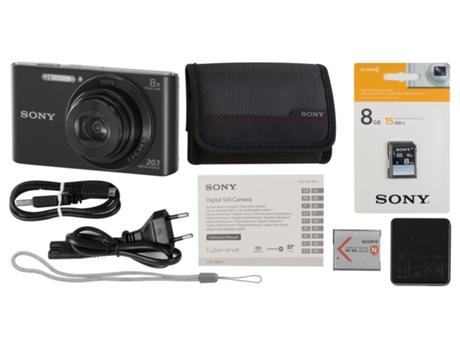 Máquina Fotográfica Compacta SONY W830 (Preto - 20 1 MP - ISO: 80 a 3200 -  Zoom Ótico: 8x)