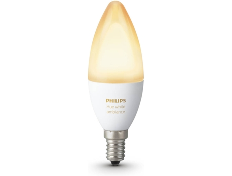 Lâmpada PHILIPS HUE Ambiance B39 E14 Branco — Smart Lighting / E14