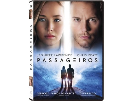 DVD Passageiros — De: Morten Tyldum / Com:  Jennifer Lawrence, Chris Pratt, Michael Sheen