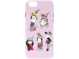 Capa iPhone 6, 6s, 7, 8 MOSCHINO Soft Figures Rosa — Compatibilidade: iPhone 6, 6s, 7 ,8