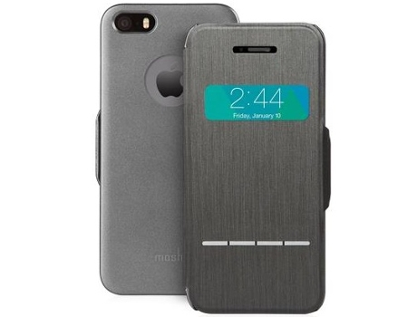 Capa MOSHI Sense Cover iPhone 5, 5s, SE Preto — Compatibilidade: iPhone 5, 5s, SE