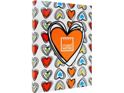Caderno A6 MAKE NOTES Colorful Hearts — 115 folhas / Liso