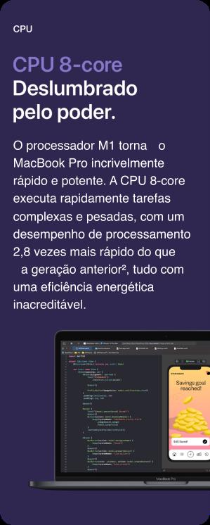 MacBook Pro 13'' CPU 8-core