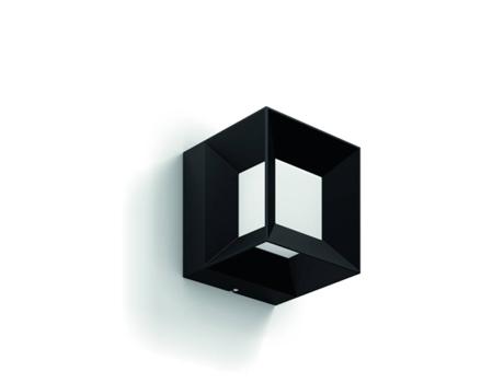 candeeiro exterior de parede philips parterre preto