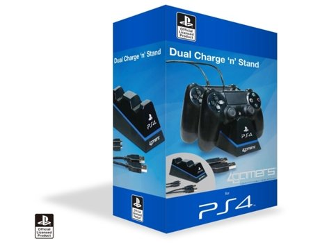 Carregador 4GAMERS Dual Charge n¿ Stand 4G-4182 2X — Compatibilidade: PS4
