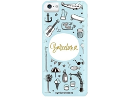 Capa LOVELY STREETS Viagem BCN iPhone 5, 5s, SE — Compatibilidade: iPhone 5, 5s, SE