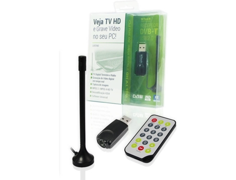 Placa TV Digital HD e Rádio USB NTECH LV5THD — Placa de Vídeo / TDT / USB 2.0