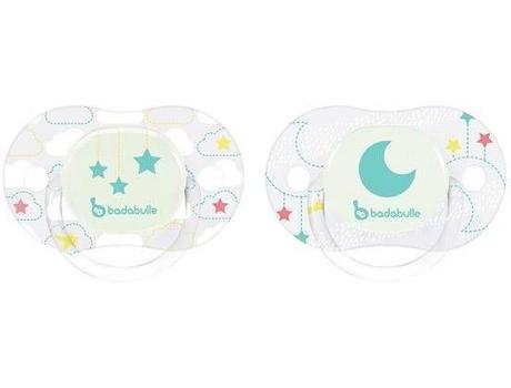 Conjunto 2 Chupetas BADABULLE Estrela Lua