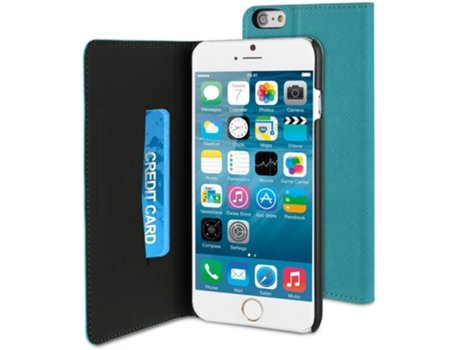 Capa MUVIT Wallet Folio iPhone 6 Plus, 6s Plus Azul — Compatibilidade: iPhone 6 Plus, 6s Plus