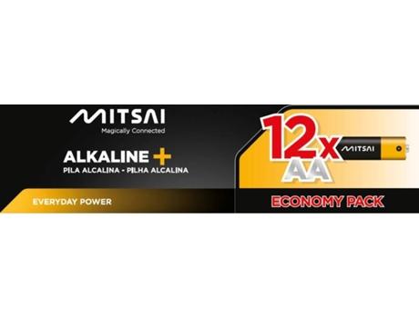 Pilhas Não Recarregáveis MITSAI LR6 (AA - 12 Unidades) | [6671276 ]