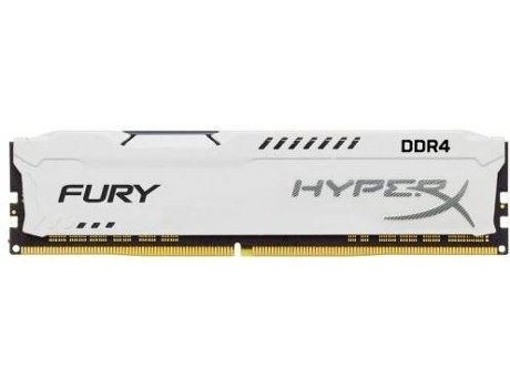 Memória RAM KINGSTON Hyperx Fury White 8GB DDR4 2400Mhz CL15 DIMM 1RX8 — 8GB | DDR4 | 2400Mhz