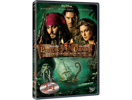 DVD Piratas das Caraíbas: O Cofre do Homem Morto — De: Gore Verbinski | Com: Johnny Depp,Orlando Bloom,Keira Knightley,Jack Davenport,Bill Nighy