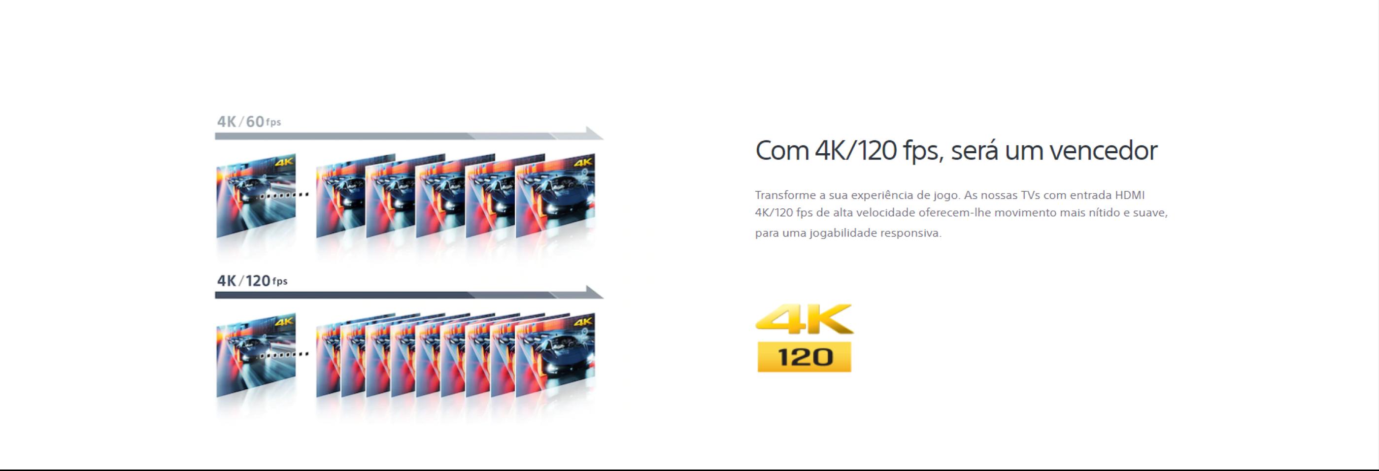 Com 4K/120 fps será um vencedor