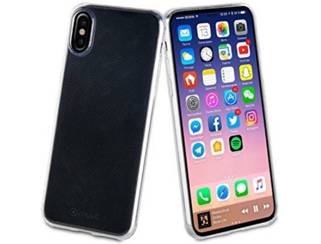 Capa MUVIT Crystal Soft iPhone X Transparente — Compatibilidade: iPhone X
