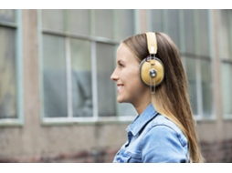 Auscultadores Bluetooth PANASONIC Retro RP-HTX80BE (Over Ear - Microfone - Bege) — Over Ear | Microfone | Atende chamadas