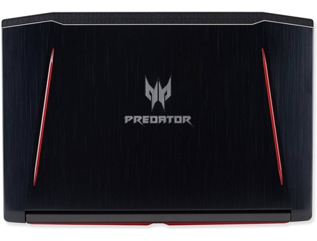 Portátil Gaming ACER Predator Helios 300 (Intel Core i7-8750U - NVIDIA GeForce GTX 1050 Ti - RAM: 16 GB - 256 GB SSD - 15.6'') — Windows 10 Home