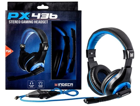 Auscultador Gaming INDECA PX-436 — PS4 | Com micro