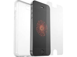 CAPA OTTERBOX CLEARLY PROTECTED iPhone SE/5/5S + Alpha Glass — Compatibilidade: iPhone 5, 5s, SE