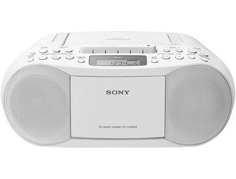 Rádio Boombox CD/K7 SONY CFDS70W — Digital