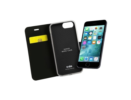 Capa SBS Book Sense iPhone 7 Plus, 8 Plus Preto — Compatibilidade: iPhone 7 Plus, 8 Plus