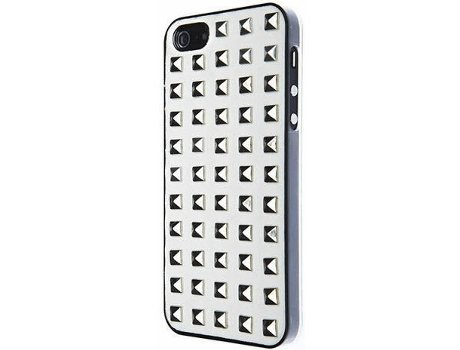 Capa VCUBED3 Metal Square iPhone 5, 5s, SE Prateado — Compatibilidade: iPhone 5, 5s, SE