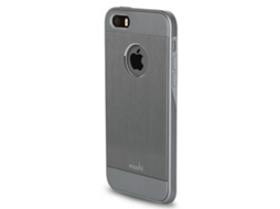 Capa iPhone 5/5S/SE Iglaze Armour Grey MOSHI — Capa / iPhone 5/5S/Se