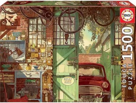 JOGOS E BRINQUEDOS KIDS - Puzzle Old Garage Arly Jones 1500 Peças