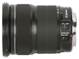 Objetiva CANON EF 24-105MM F:3.5-5.6 IS STM — Abertura: f/22-32 - f/0.3