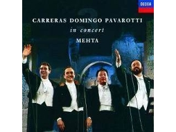 CD Jose Carreras & Placido Domingo - Carreras Domingo Pavarotti in Concert — Clássica