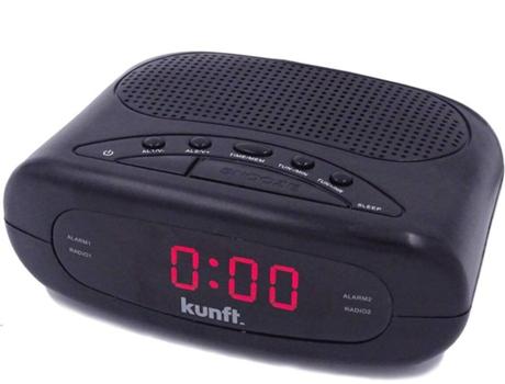 Rádio Despertador KUNFT KTCR3848 (Preto - PPL - Alarme Duplo - Função Snoozer - Corrente) | [6655178
